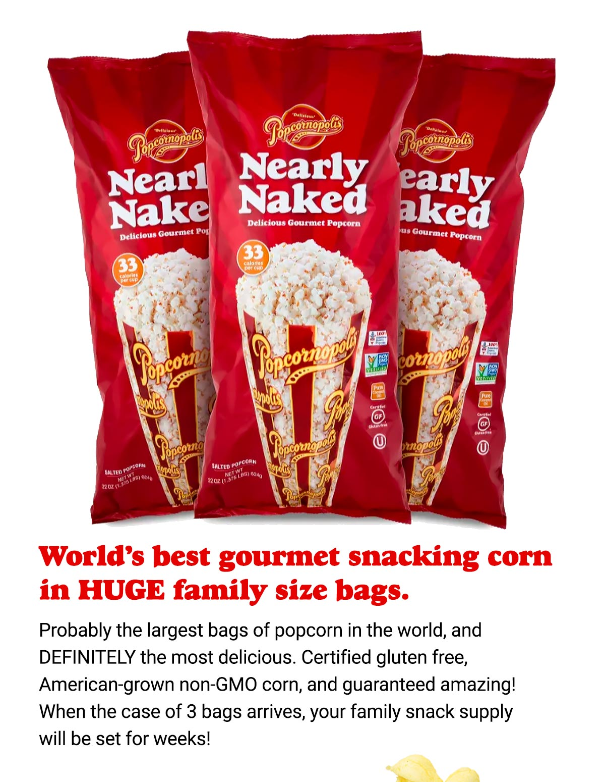 Nearly Naked in the Huge Bags Ships FREE!