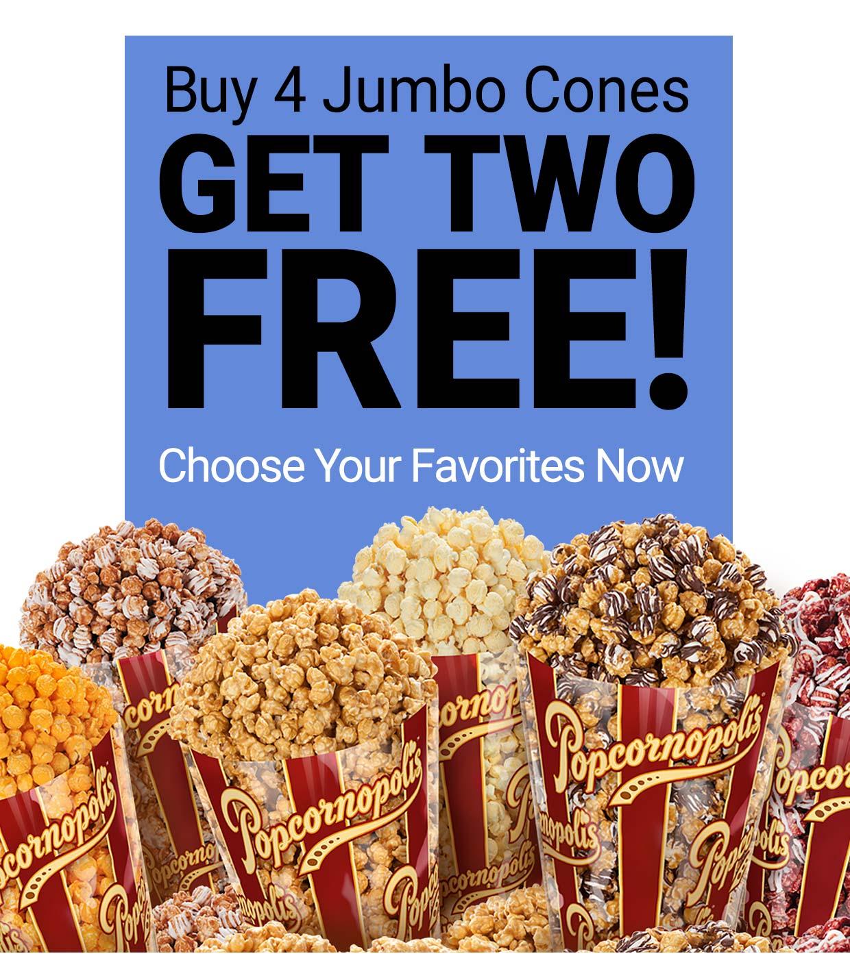 Popcornopolis Sale: Buy 4, Get 2 FREE!